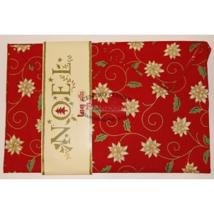 Tag House Tovaglia di Natale Rettangolare 140x180 Joy con tovaglioli