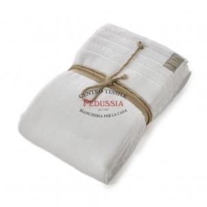 Coccola Fazzini Asciugamano doccia in spugna 100x150 - A Bianco