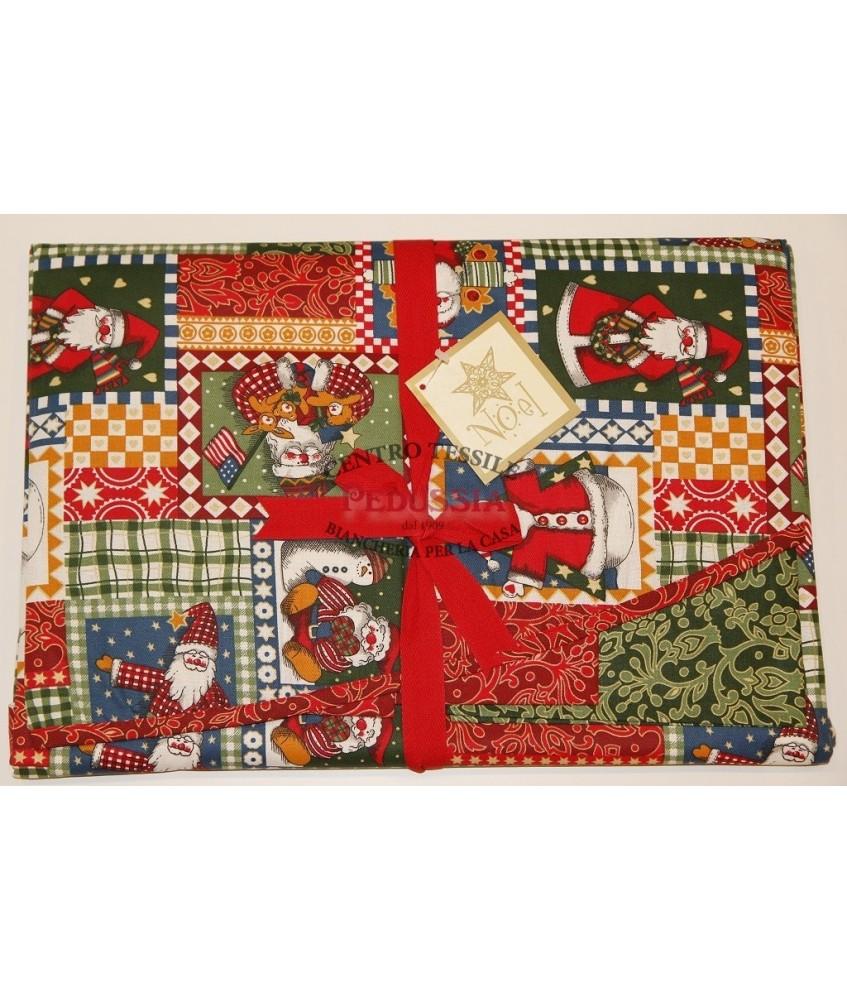 Tag House Tovaglia di Natale Ovale Noel 180x260 con 12 tovaglioli