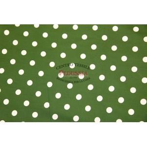 Bottaro Pios verde Tessuto a metraggio puro cotone h 1,80 m