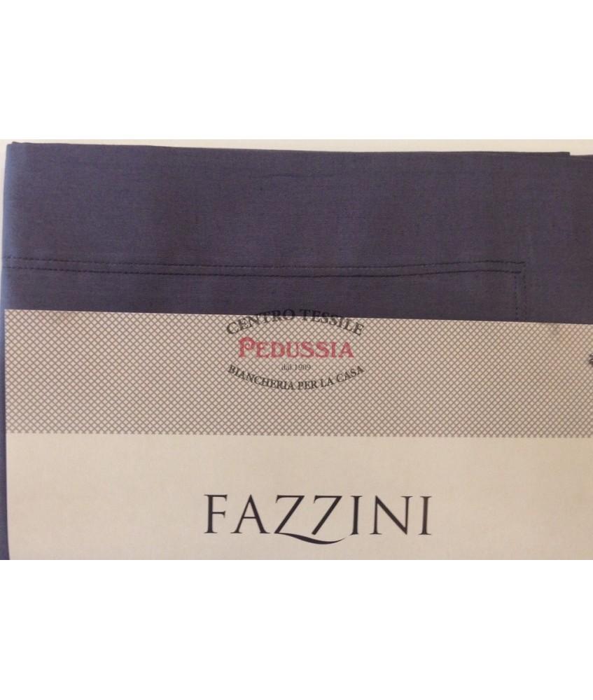 Fazzini Federa Arianna a tre volani in Puro cotone - Colore Grigio Piombo Var. 52