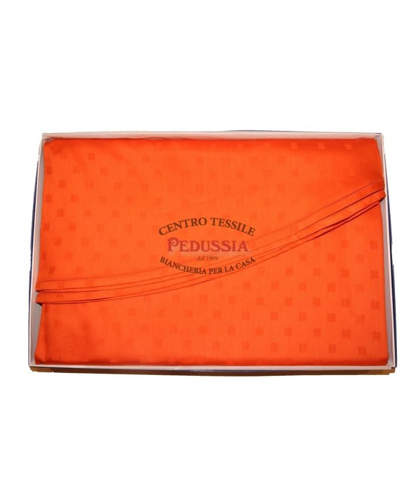 Tag House Tovaglia Ovale 180x270 con tovaglioli Arancio