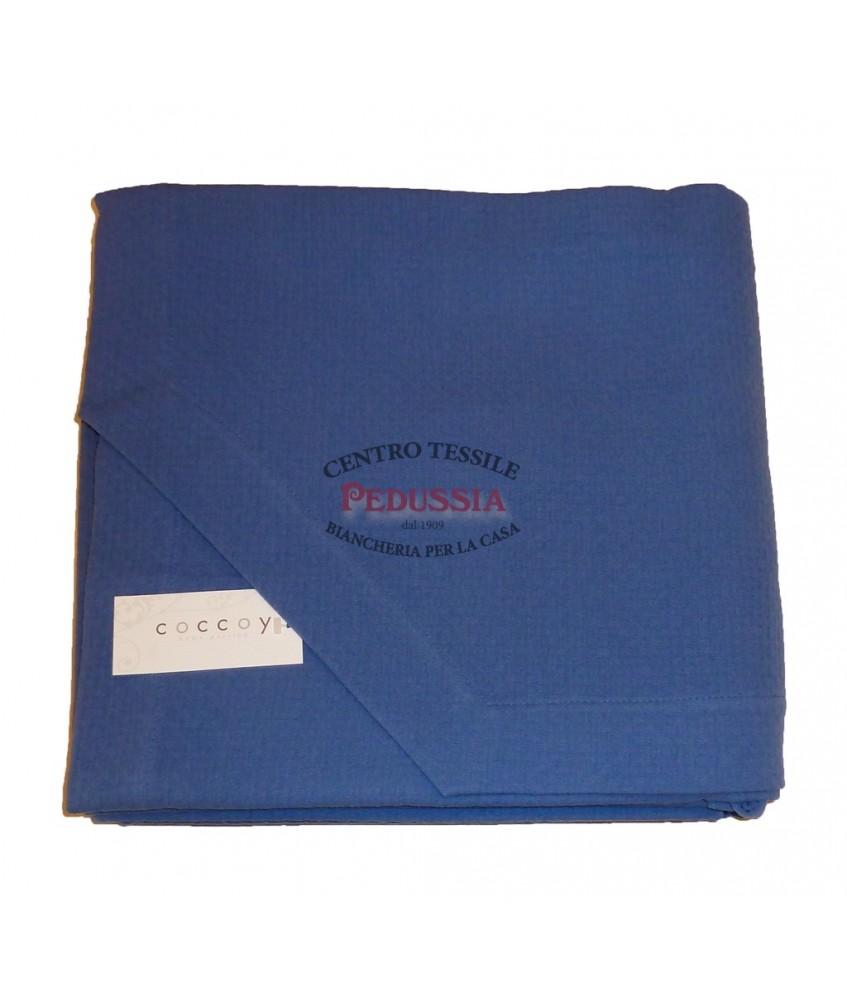 Fashionbed Copriletto 100% Cotone Ideal Blu