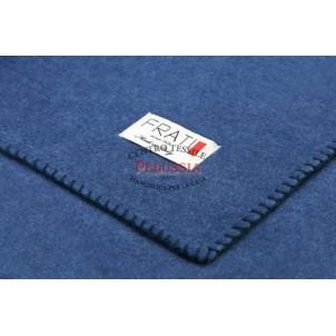 Frati Textiles Plaid Coperta Soft Cotton Blu