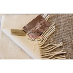 Lanerossi Plaid Natural Check pura lana vergine Grigio