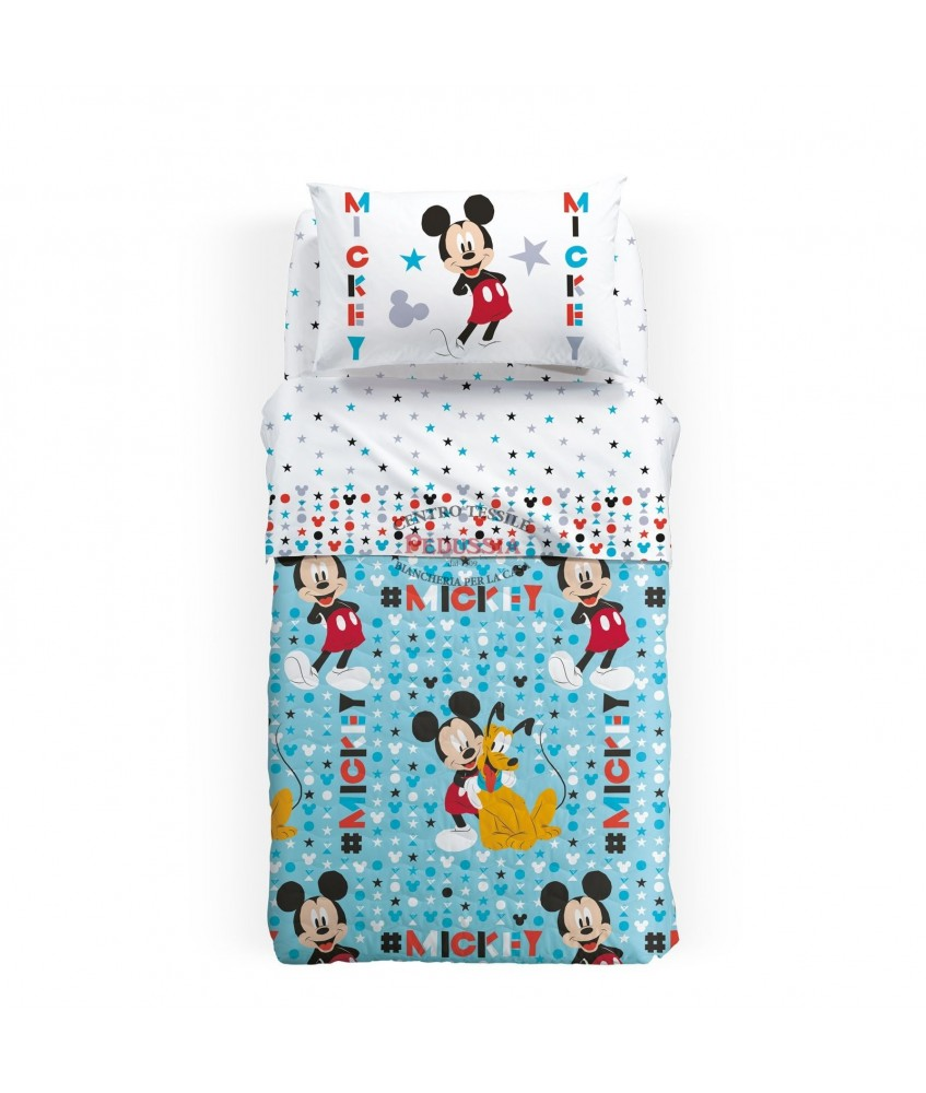 Caleffi Copriletto trapuntato Mickey stelle