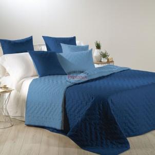 Caleffi Copriletto Primaverile Mix in Cotone Blu