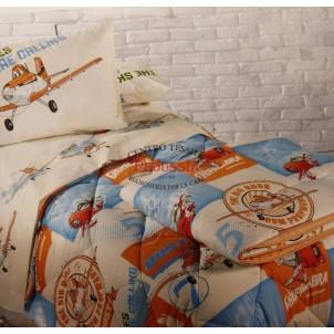 Caleffi Disney Planes Sky Trapunta singola 170x260 Aerei Azzurra 1 piazza