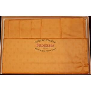 Tag House Tovaglia Albicocca 100% cotone damina rettangolare 160x180 con 6 tovaglioli